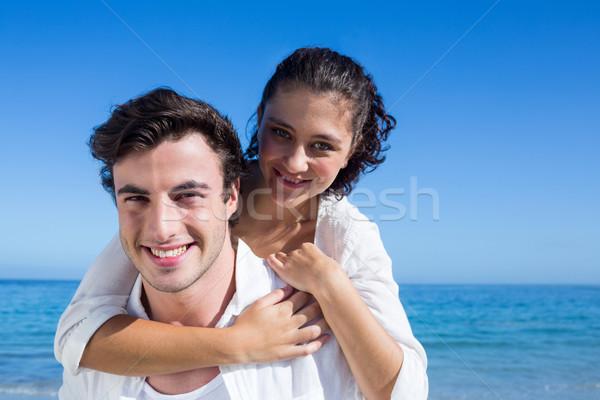 красивый мужчина назад подруга пляж женщину Сток-фото © wavebreak_media