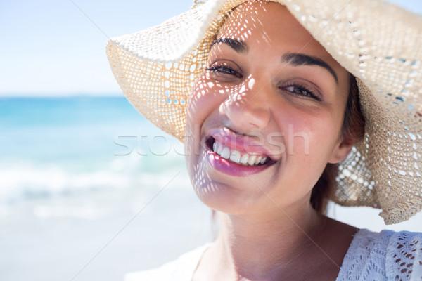 かなり ブルネット 着用 麦わら帽子 見える カメラ ストックフォト © wavebreak_media