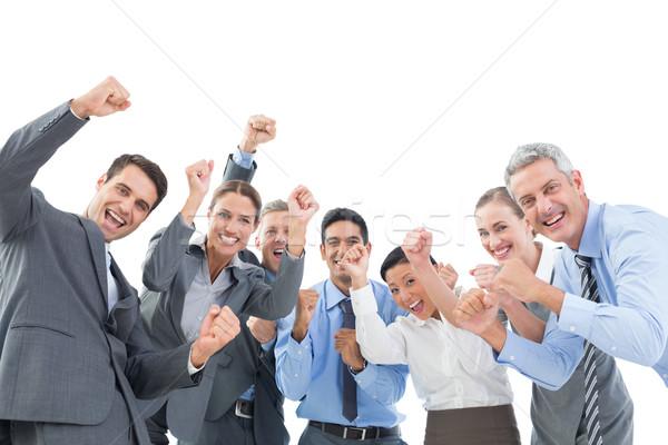 Uomini d'affari ufficio bianco donna uomo Foto d'archivio © wavebreak_media