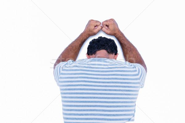 Triste hombre cabeza pared Foto stock © wavebreak_media