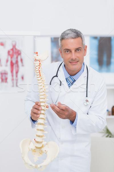 Feliz médico anatómico espina clínica Foto stock © wavebreak_media