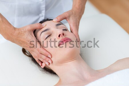 頭 マッサージ 医療 オフィス 女性 健康 ストックフォト © wavebreak_media
