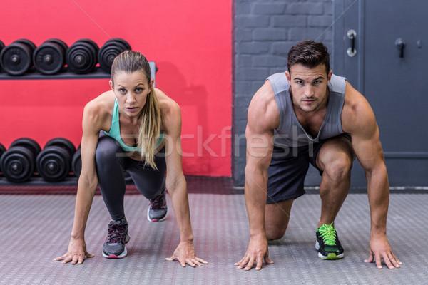мышечный пару положение портрет человека здоровья Сток-фото © wavebreak_media