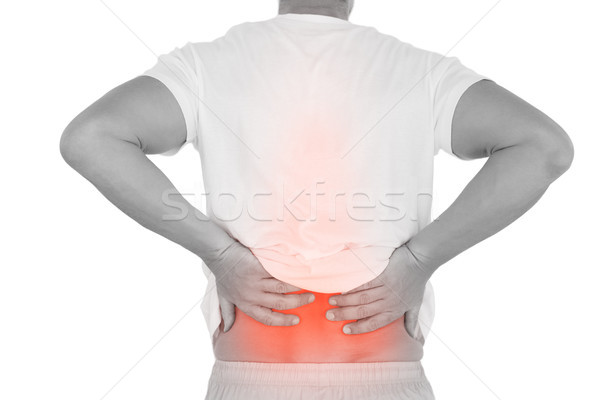 Digitális kompozit gerincoszlop férfi hátfájás fehér test Stock fotó © wavebreak_media