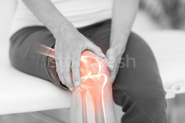 Hombre sufrimiento rodilla dolor digital Foto stock © wavebreak_media