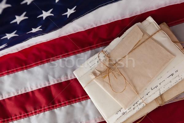 Legal documents arranged on American flag Stock photo © wavebreak_media