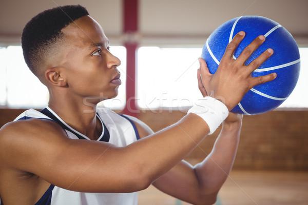 Close up of teenager practicing basketball Stock photo © wavebreak_media