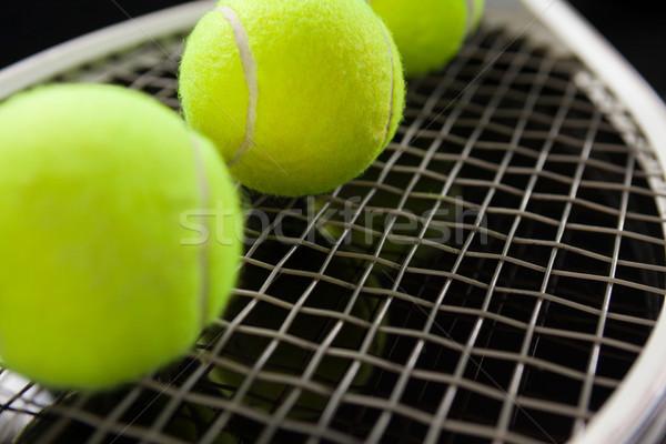 флуоресцентный желтый Теннисная ракетка черный Сток-фото © wavebreak_media