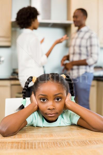 Sad girl against parents arguing Stock photo © wavebreak_media