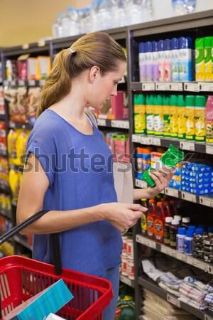 Madre hijo comestibles compras supermercado mujer Foto stock © wavebreak_media