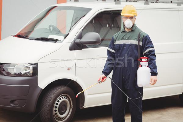 Handyman with insecticide Stock photo © wavebreak_media