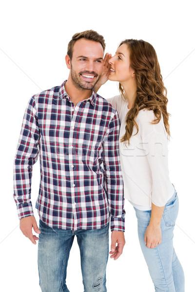 Kobieta kłosie biały człowiek zabawy Zdjęcia stock © wavebreak_media