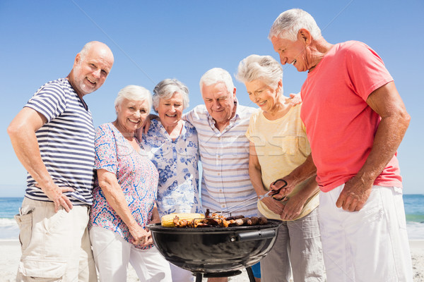 Senior friends having a barbecue Stock photo © wavebreak_media