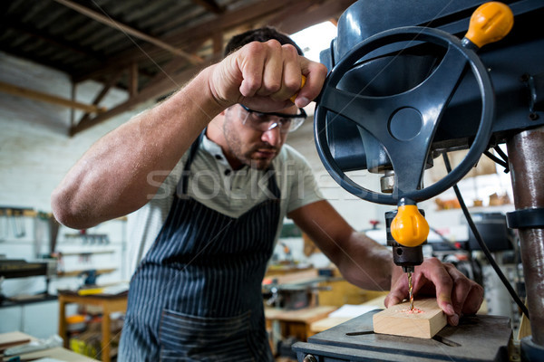 Marangoz matkap atölye adam stüdyo araç Stok fotoğraf © wavebreak_media