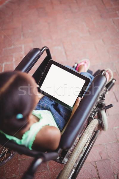 先頭 表示 少女 車いす 幸せ ストックフォト © wavebreak_media