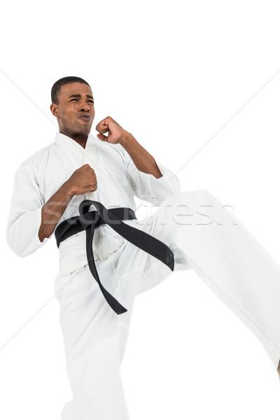 истребитель каратэ белый фитнес Сток-фото © wavebreak_media