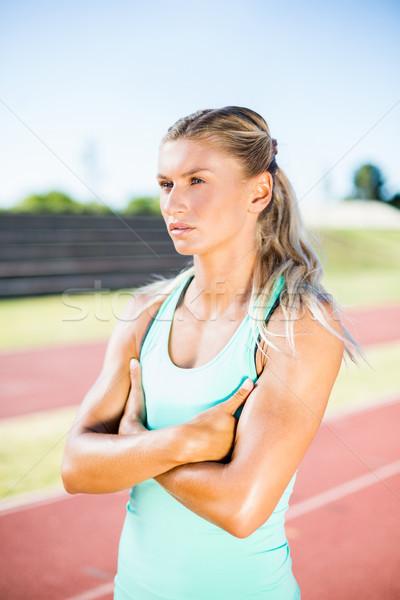 Kobiet sportowiec stałego uruchomiony utwór Zdjęcia stock © wavebreak_media
