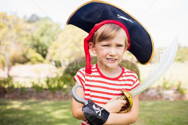 Portré imádnivaló kicsi fiú kalóz park Stock fotó © wavebreak_media