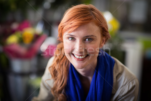 Photo stock: Heureux · Homme · fleuriste · portrait · magasin