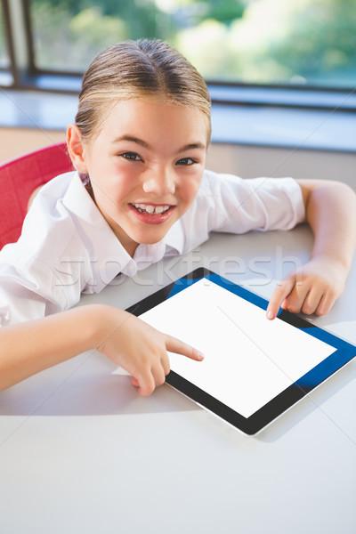 Iskolás digitális tabletta osztályterem közelkép iskola Stock fotó © wavebreak_media