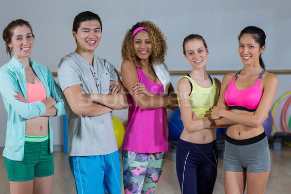 Group of fitness team standing with arms crossed Stock photo © wavebreak_media