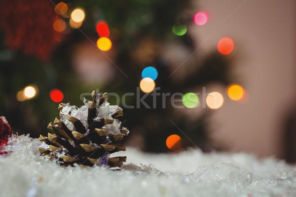 Рождества безделушка соснового конус снега время Сток-фото © wavebreak_media