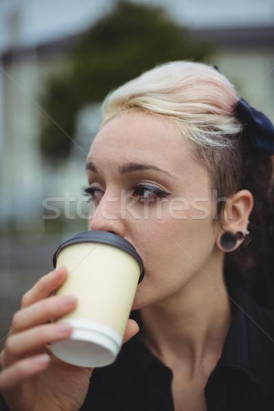 Empresária café escritório escola mulher Foto stock © wavebreak_media