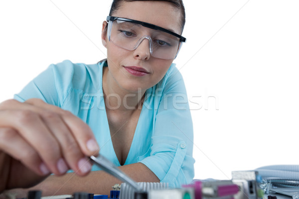 женщины компьютер инженер платы белый Сток-фото © wavebreak_media