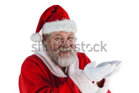 Papai noel cantando natal música homem feliz Foto stock © wavebreak_media
