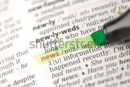 Szó cukorbetegség szótár közelkép barátok tanul Stock fotó © wavebreak_media