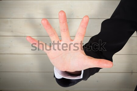 Man hand wearing watch and fitness band Stock photo © wavebreak_media
