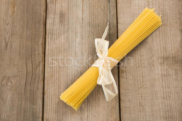 Nyers spagetti fehér szalag piros vakáció Stock fotó © wavebreak_media