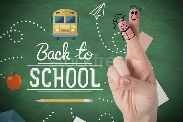 Composite image of fingers posed as students Stock photo © wavebreak_media