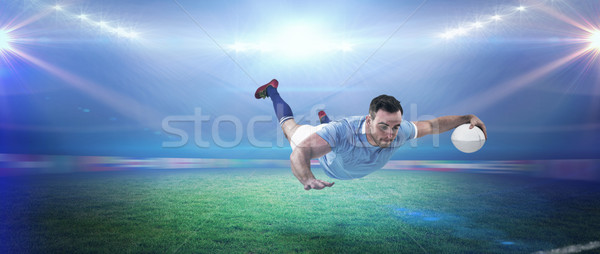 Composite image of rugby player scoring a try Stock photo © wavebreak_media