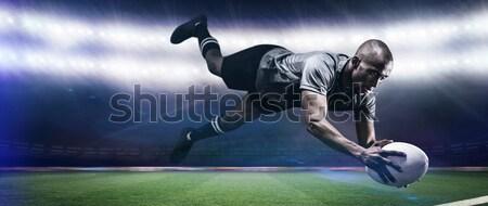 изображение мяч для регби синий свет Мир Сток-фото © wavebreak_media