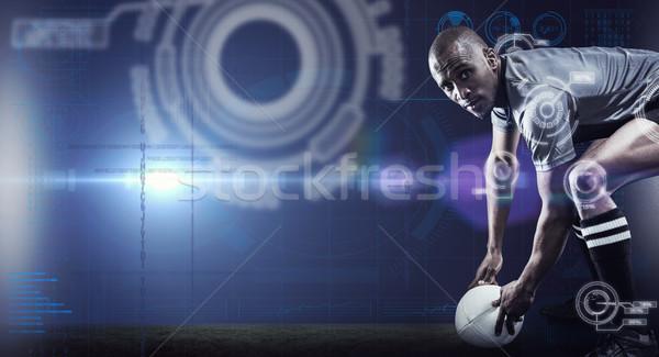 Imagem retrato rugby jogador Foto stock © wavebreak_media