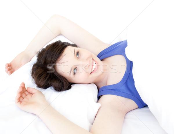 Close-up of a dreamy woman waking up slowly Stock photo © wavebreak_media