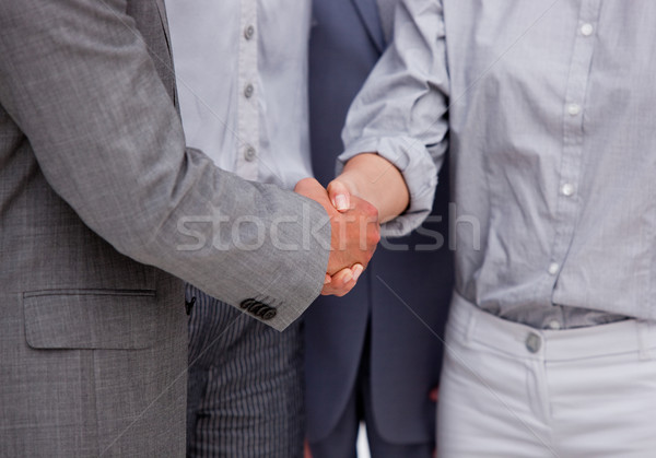 Close-up of a victorious businessteam closing a deal Stock photo © wavebreak_media