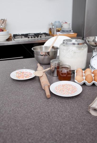 ベーカリー 材料 キッチン 卵 シェフ 料理 ストックフォト © wavebreak_media