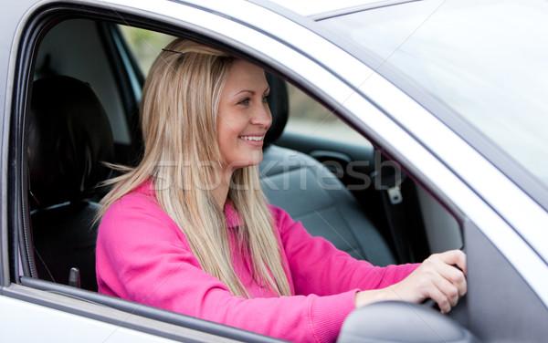 Attractive female driver at the wheel  Stock photo © wavebreak_media