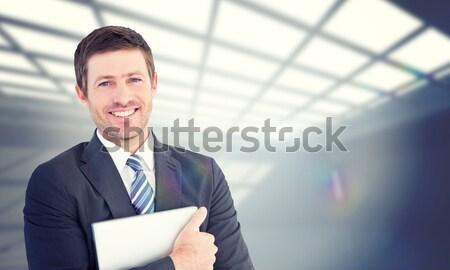 Ritratto imprenditore piegato braccia isolato bianco Foto d'archivio © wavebreak_media