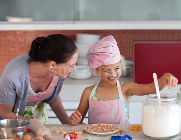 молодые матери кухне преподавания ребенка Кука Сток-фото © wavebreak_media