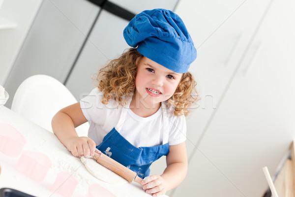Meisje keuken home huis meisje Stockfoto © wavebreak_media