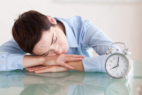 Uyku kadın kafa büro ofis iş Stok fotoğraf © wavebreak_media