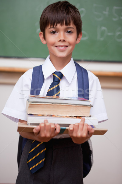 Retrato colegial libros aula sonrisa Foto stock © wavebreak_media
