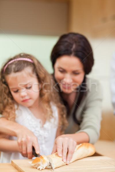 матери дочь хлеб вместе продовольствие Сток-фото © wavebreak_media