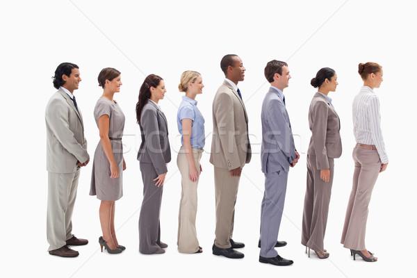 Profil iş ekibi hat beyaz iş kalabalık Stok fotoğraf © wavebreak_media