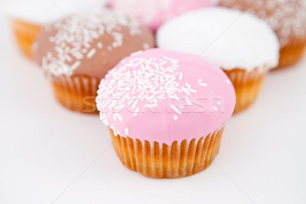 Piramide muffins glazuursuiker witte eten Stockfoto © wavebreak_media