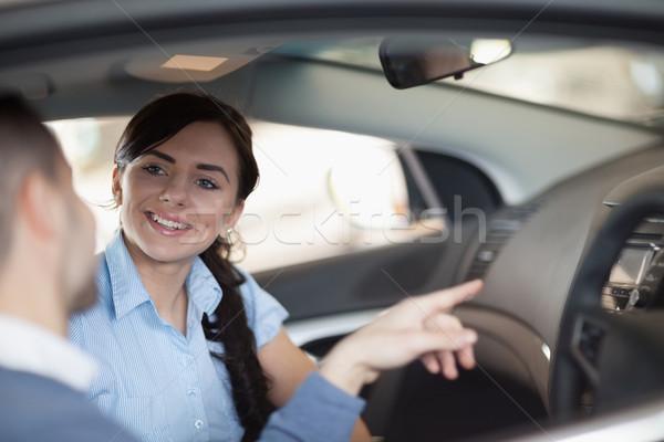 человека указывая автомобилей интерьер сидят женщину Сток-фото © wavebreak_media