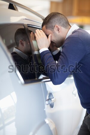 Człowiek samochodu drogowego autostrady mężczyzna Zdjęcia stock © wavebreak_media